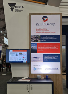 Defence and Industry Conference Zenith Group stand