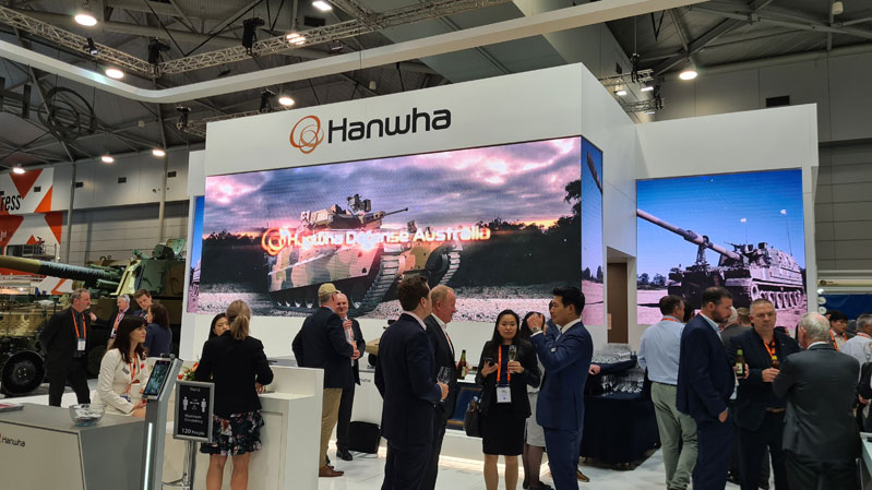 Defence and Industry Conference Hanwha Defence stand