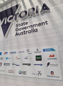 Defence and Industry Conference exhibitors at Vic Govt stand